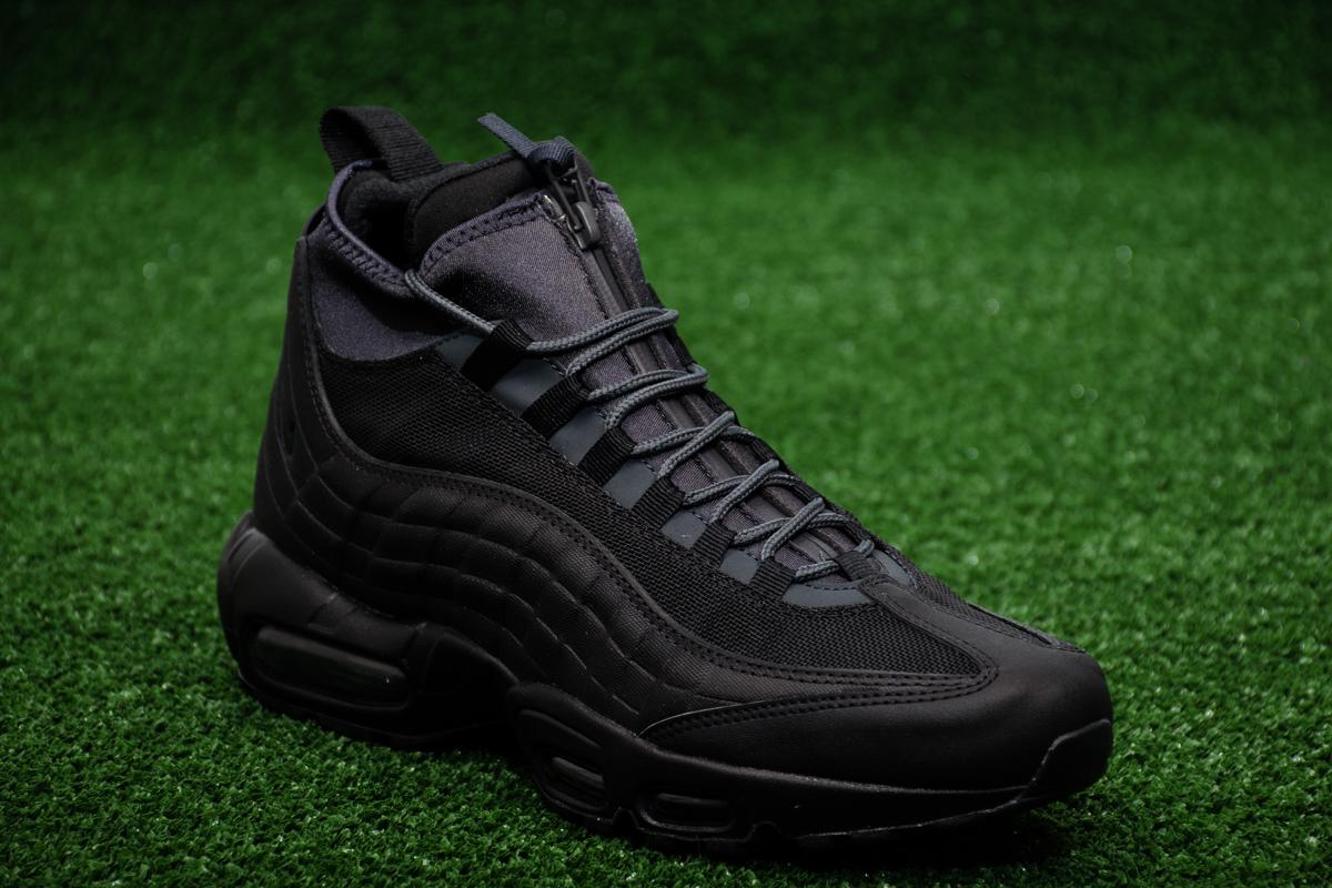 Mens Nike Air Max 95 Sneakerboot Black Trainers 806809 001