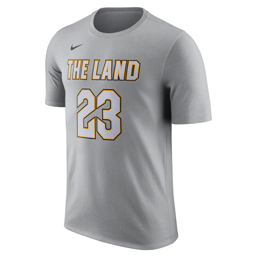 Nike nba cleveland cavaliers lebron james city edition dri for Nba t shirt design