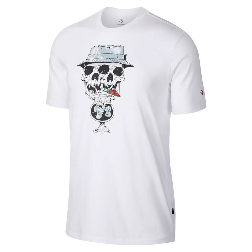 2dde2951605 Converse Palm Print Skull Tee - Clothes Shirts - Sporting goods