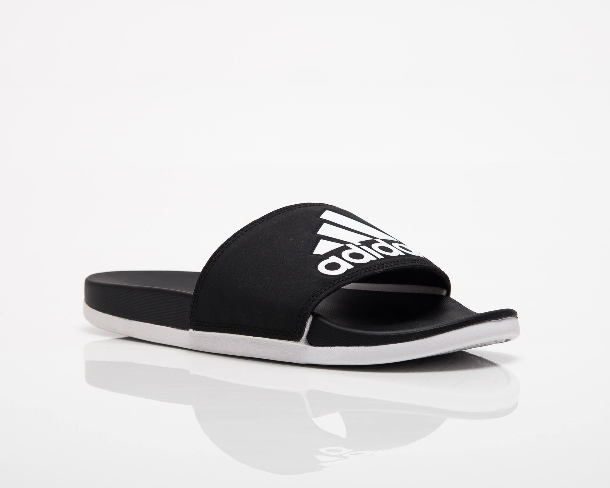 509f00568392 adidas Adilette Cloudfoam Plus Logo Slides - Shoes Slides - Sporting ...