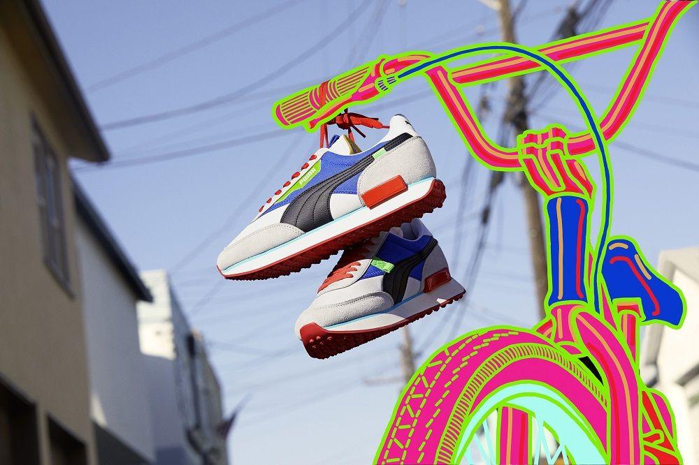 Energingų spalvų sprogimas su Puma Style Rider ir Future Rider